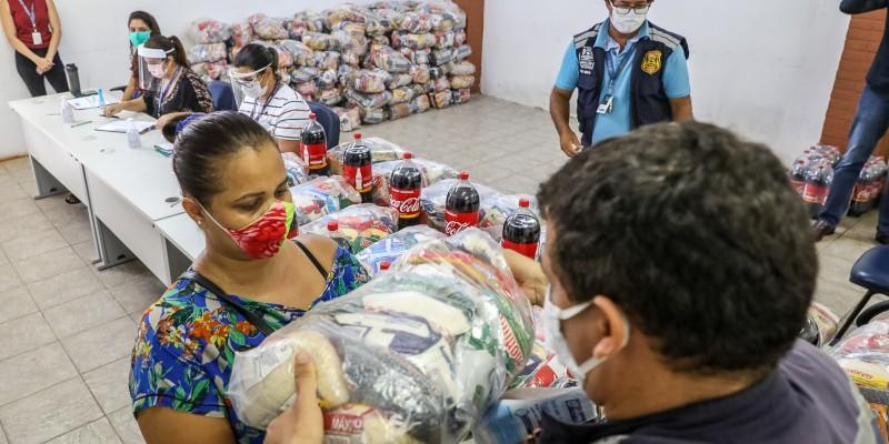 Apoio da prefeitura: cestas serão distribuídas até a próxima segunda-feira