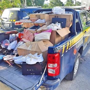 Carga de calçados falsificados é apreendida em Garanhuns pela PRF
