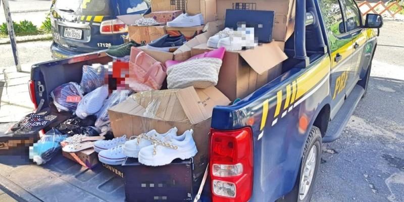 O motorista, de 49 anos, informou que os produtos tinham origem na região Sudeste, mas não especificou o local de destino da carga