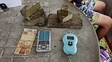 Polícia apreende 1,3 kg de maconha em Caruaru