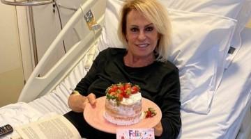 Ana Maria Braga ganha bolo na sessão de químio