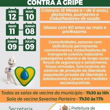 Campanha de Vacinação contra gripe tem início na próxima segunda-feira (12) em Belo Jardim