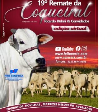 """Fazenda Coqueiral, em Sairé, realizará pela primeira vez edição online do tradicional Leilão """"Remate da Coqueiral - Ricardo Kühni - Nelore RK"""""""