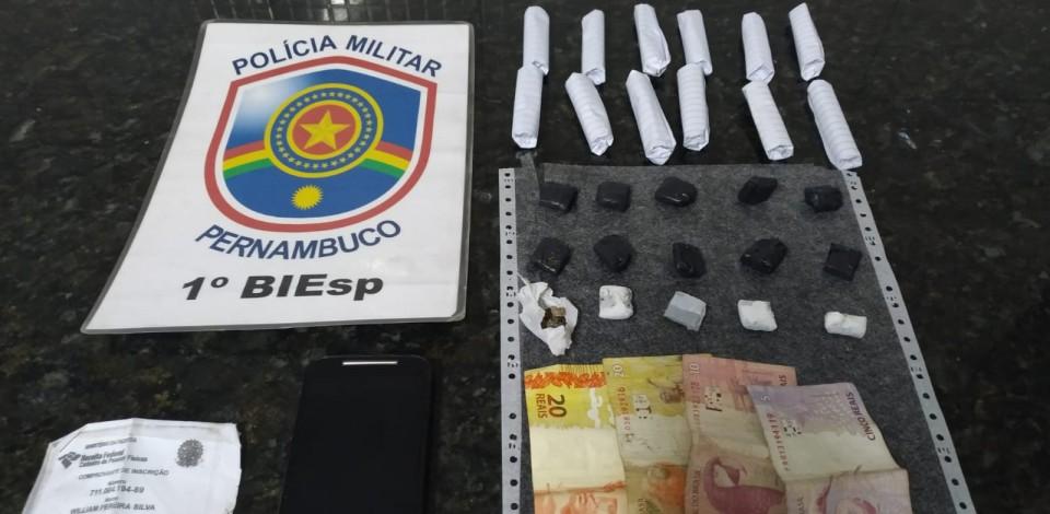 Homem é preso por tráfico de drogas em Caruaru
