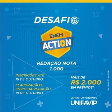UniFavip abre inscrições gratuitas para o Desafio Enem Action 2020