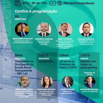 Seminário Anticorrupção será realizado pelo Senac e CGU-R/PE