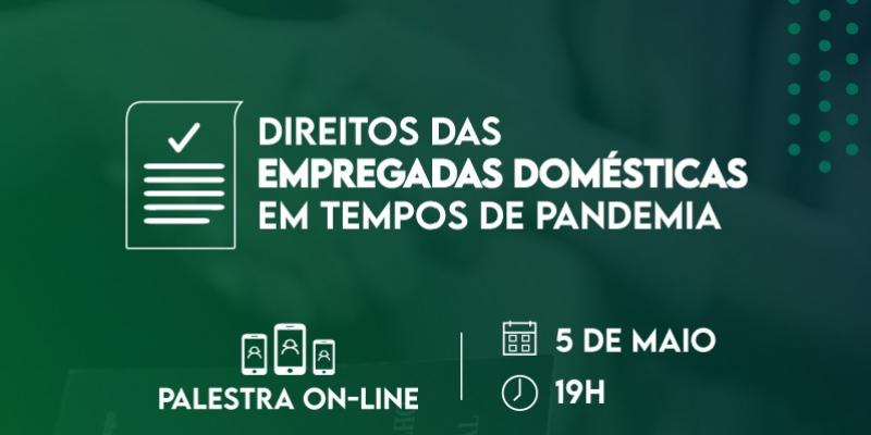 O evento será realizado às 19h, pelo Google Meet
