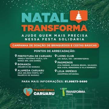 Transforma Caruaru lança campanha de Natal 2020