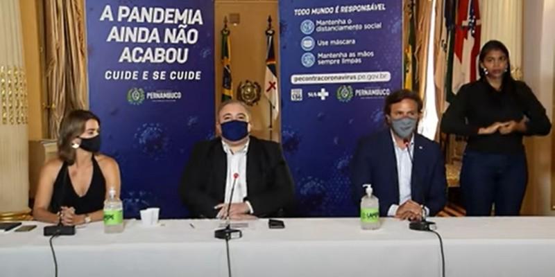 A medida, segundo o governo de Pernambuco, é para conter os casos de contaminação por covid-19