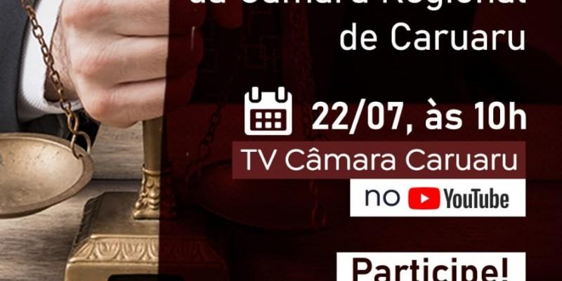 A audiência será nesta quinta-feira (22), e será transmitida pelo canal da Câmara de Vereadores de Caruaru no Youtube