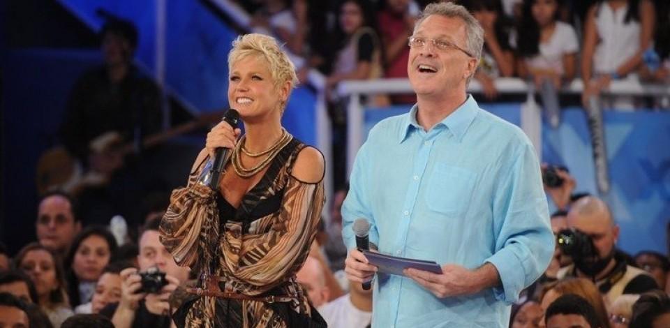 Xuxa grava para programa de Pedro Bial, na Globo