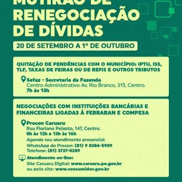 Procon Caruaru realizará mutirão de renegociação de dívidas