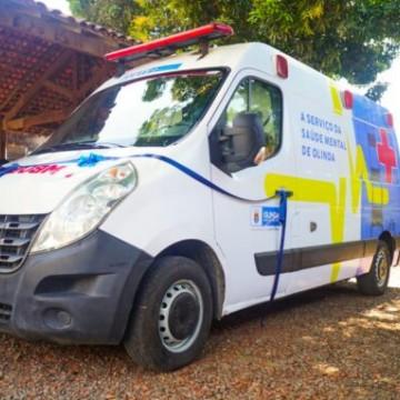 Olinda passa a contar com ambulância para atendimento à saúde mental