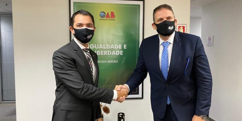 Durante a reunião, foram abordados diversos temas,como a prestação de serviços jurídicos durante a pandemia