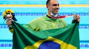 Scheffer traz Bronze para o Brasil nas piscinas de Tóquio
