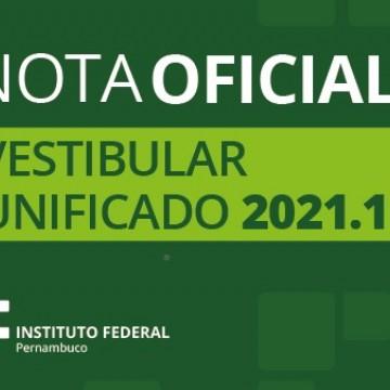IFPE divulga nota oficial sobre Vestibular 2021