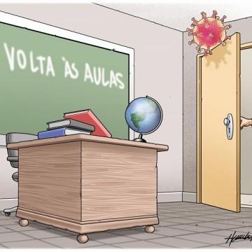 Charge de Humberto: Volta às aulas