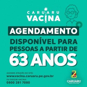 Caruaru amplia vacinação para idosos com 63 anos ou mais