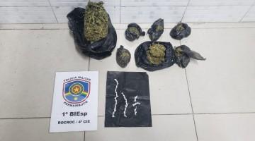 Jovem é preso com drogas em Caruaru