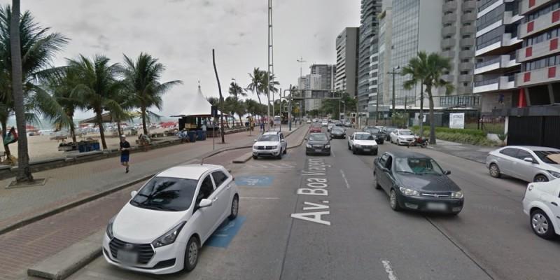 A circulação de veículos será bloqueada na Avenida Boa Viagem, a partir das 6h da manhã do dia 31