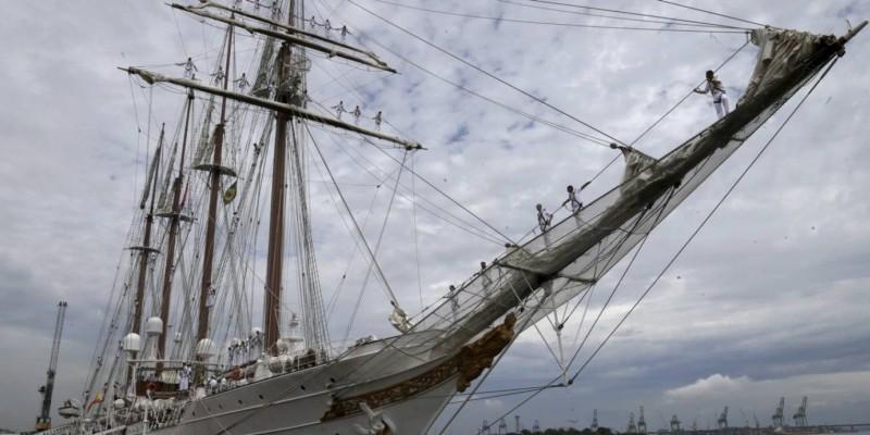 O navio-escola fica na capital até o dia 4 de fevereiro