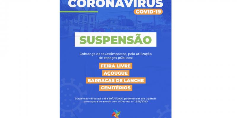 A suspensão das cobranças segue até o dia 30 de abril