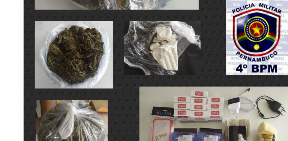 Três pessoas são presas tentando arremessar drogas na Funase
