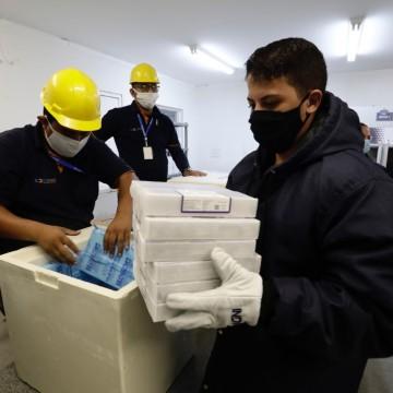 Pernambuco recebe mais 54.990 doses da Pfizer