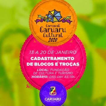 Cadastramento de blocos e troças para o Carnaval 2020 de Caruaru