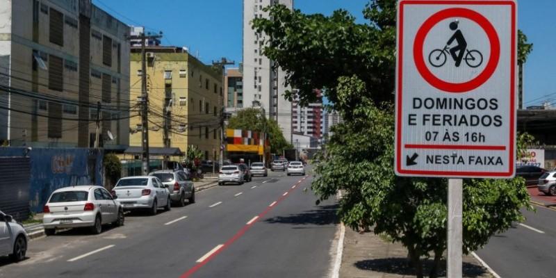 Com início na Avenida Beira Mar, a ciclofaixa funcionará aos domingos e feriados, das 7h às 16h
