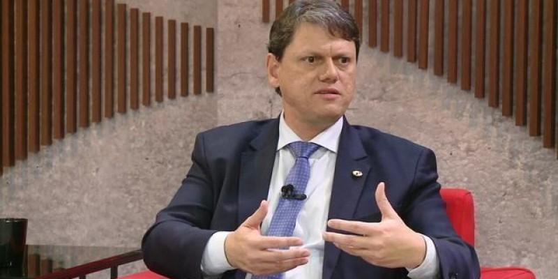 A informação foi repassada pelo ministro da Infraestrutura, Tarcísio de Freitas