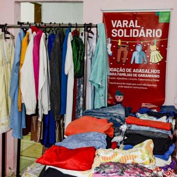 Varal Solidário: Prefeitura de Garanhuns e Home Center Ferreira Costadoamagasalhos paraAssociações beneficentes
