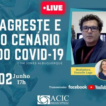 Cientistafará palestra da Acic sobre cenário da Covid-19 no Agreste