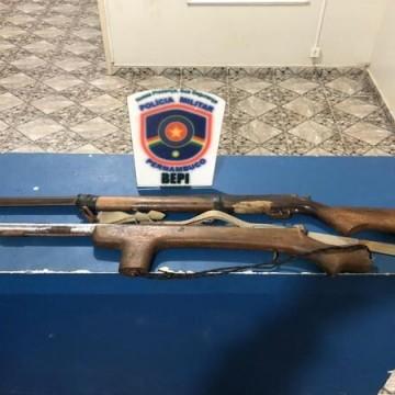 Paraguaio é preso por posse ilegal de armas no Sertão