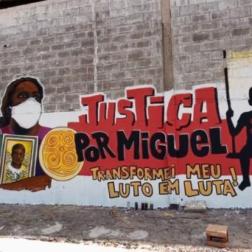 Grafitagem faz homenagem ao menino Miguel