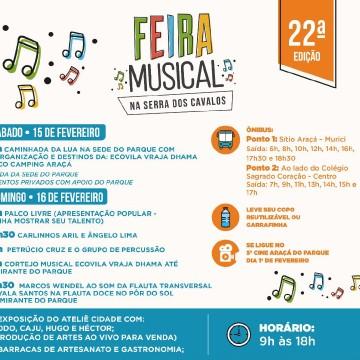 Feirinha Musical chega a 22ª edição no próximo domingo, em Serra dos Cavalos