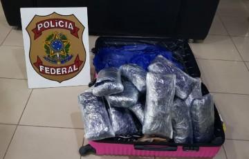 PF prende homem com grande quantidade de maconha no aeroporto de Recife
