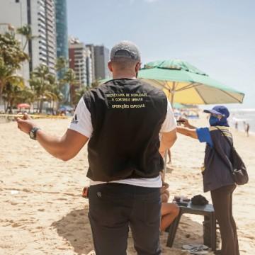 Prefeitura do Recife reforça orientações nas praias para conter aglomerações