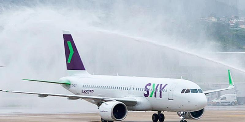 A Sky Airline e a JetSmart pretendem realizar, a partir de dezembro, a rota Santiago-Salvador