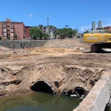 Primeira etapa das obras no canal do Fragoso deve terminar em março