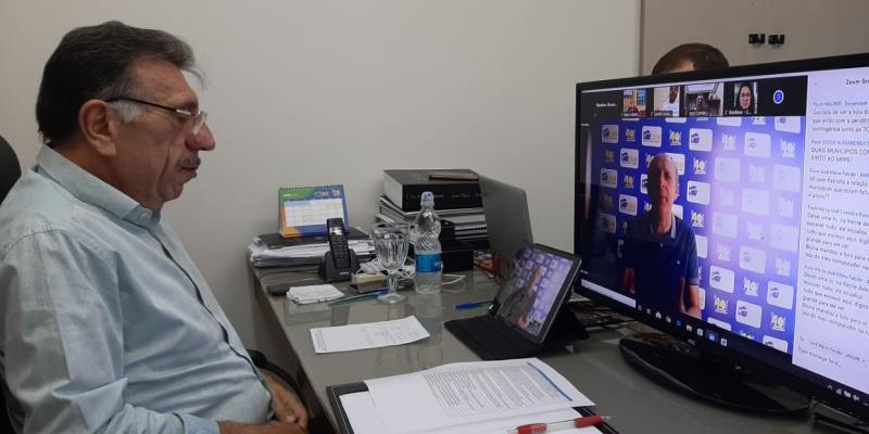 Cerca de 100 prefeitos de diversos municípios pernambucanos se reuniram por videoconferência para alinhar as estratégias de combate ao novo coronavírus