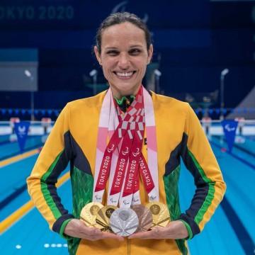 Nadadora pernambucana ganha 5 medalhas nas Paralimpíadas de Tóquio