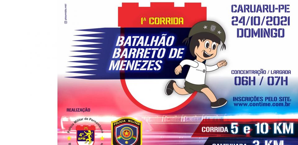 Batalhão de Caruaru promove corrida solidária