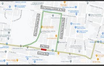 Trecho da Rua Ilhéus, no Bairro Kennedy, em Caruaru, é interditada por 45 dias