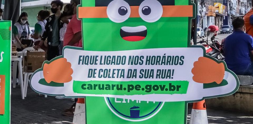 Prefeitura de Caruaru amplia coleta de lixo nos residenciais Luiz Bezerra Torres e Alto do Moura