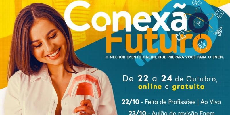 Evento que acontece de 22 a 24 de outubro, é 100% online, gratuito e tem o objetivo de discutir sobre profissões, bem como preparar para o ENEM
