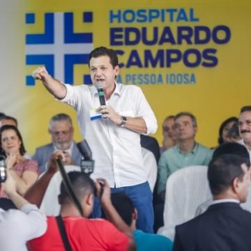 Hospital Eduardo Campos da Pessoa Idosa tem 35% das obras concluídas, afirma prefeito