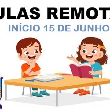 Secretaria de Educação dá início a aulas remotas para alunos da Rede Municipal de Ensino