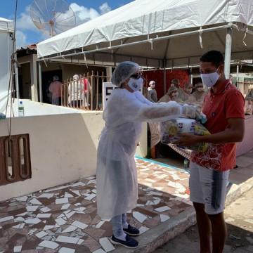 Mais de 30 toneladas de alimentos distribuídas em Tamandaré
