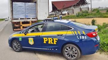 PRF retém caminhão com 110 mil cervejas sem nota fiscal